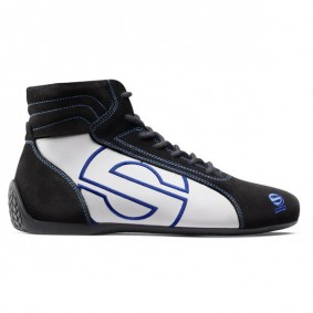 SPARCO SLALOM SLX-3 RACING SHOES BLACK/WHITE