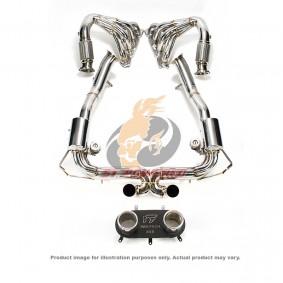 FERRARI 458 F1 CAT-BYPASS PIPE + F1 VALVETRONIC MUFFLER + TIPS