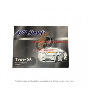 APP BRAKE PAD KIT - TYPE-SA MAZDA SPEED3 - 2007-2013 (FRONT)