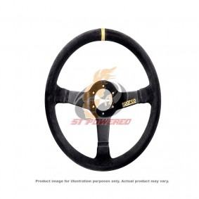 SPARCO STEERING WHEEL R333 BLACK SUEDE